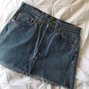 Levi 501 Denim Jean Mini Skirt